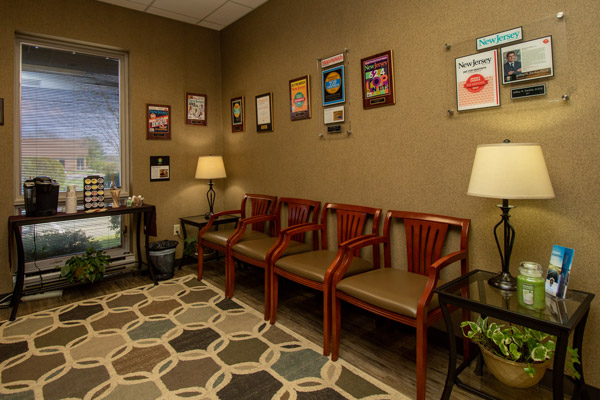 Reception room at Premier Periodontics and Implant Dentistry.